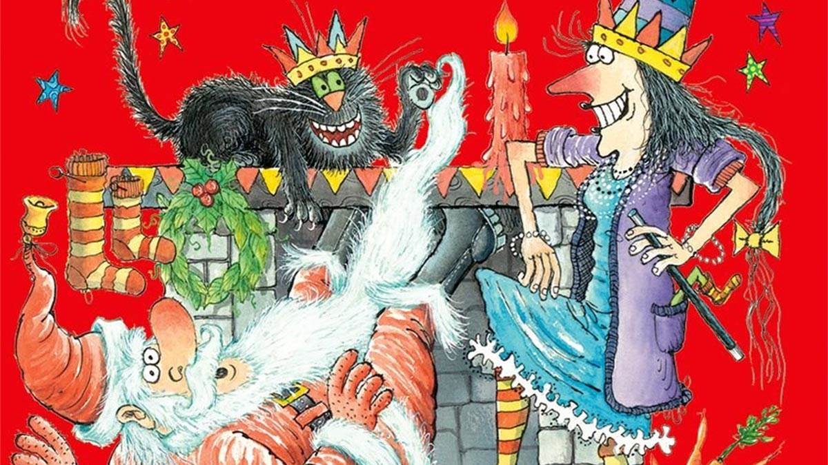 The front cover of Winnie and Wilbur Meet Santa