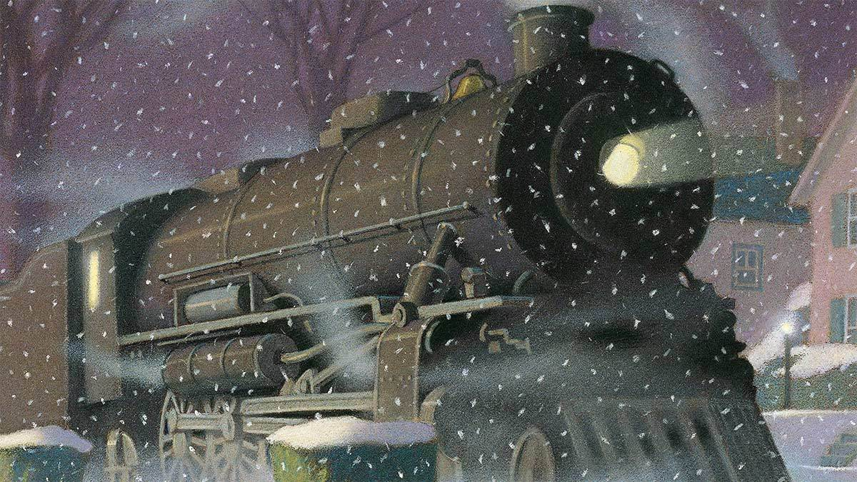 The front cover of The Polar Express