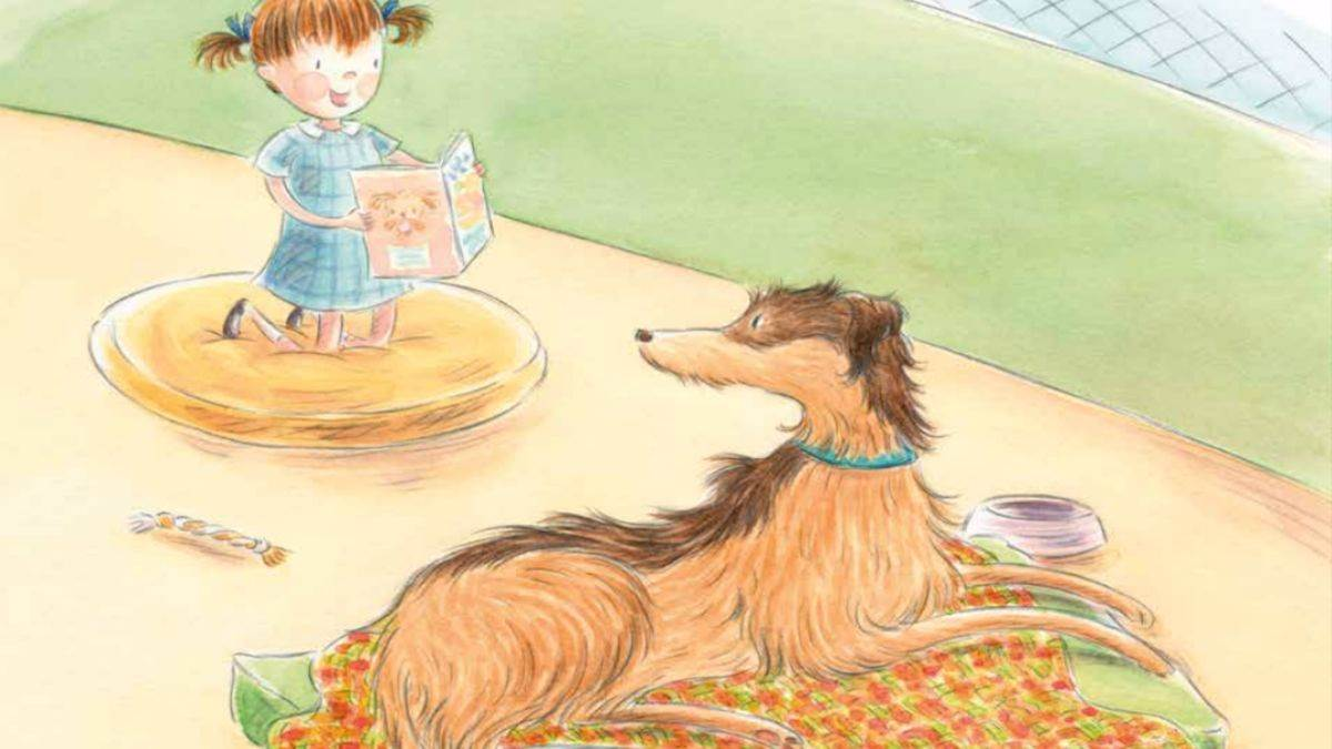 An illustration from Boo Loves Books
