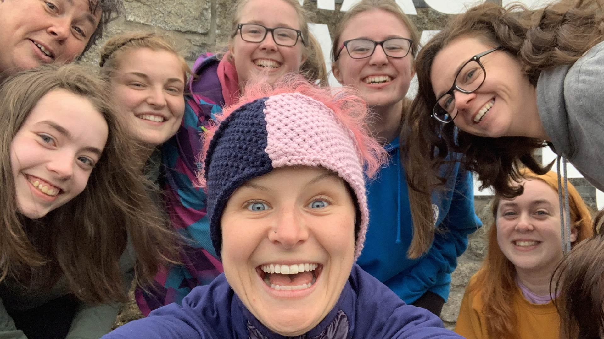 Author Anna McNuff on a Girlguiding adventure
