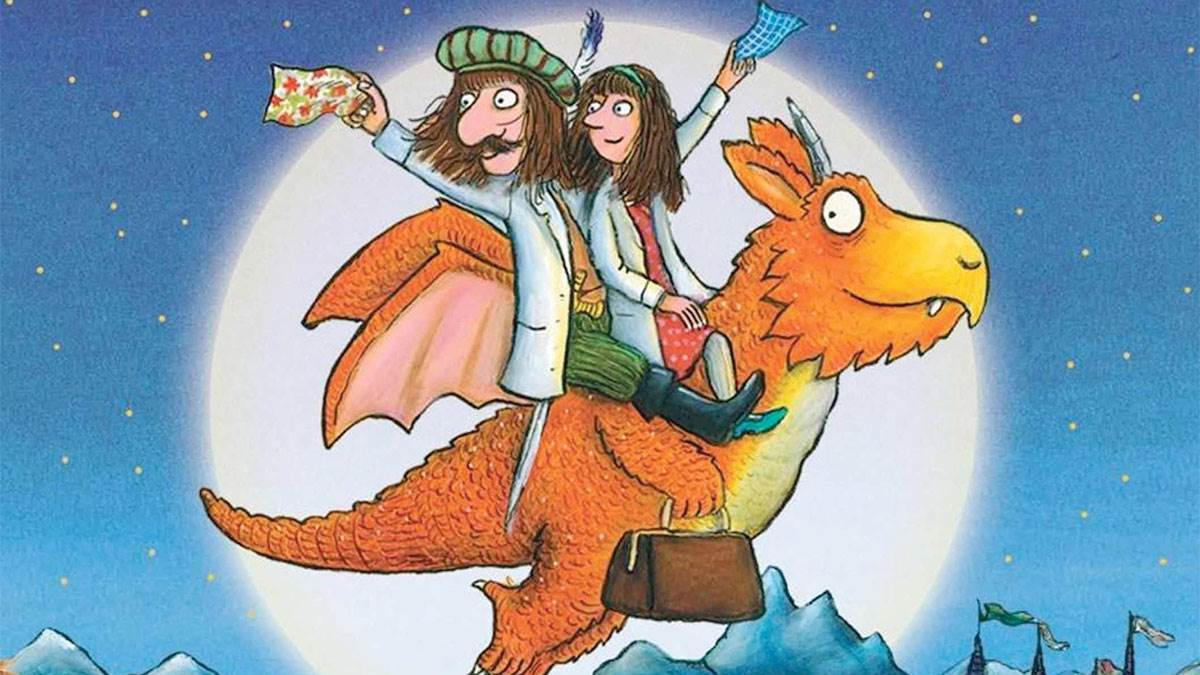 The front cover of Zog and the Flying Doctors by Julia Donaldson and Axel Scheffler