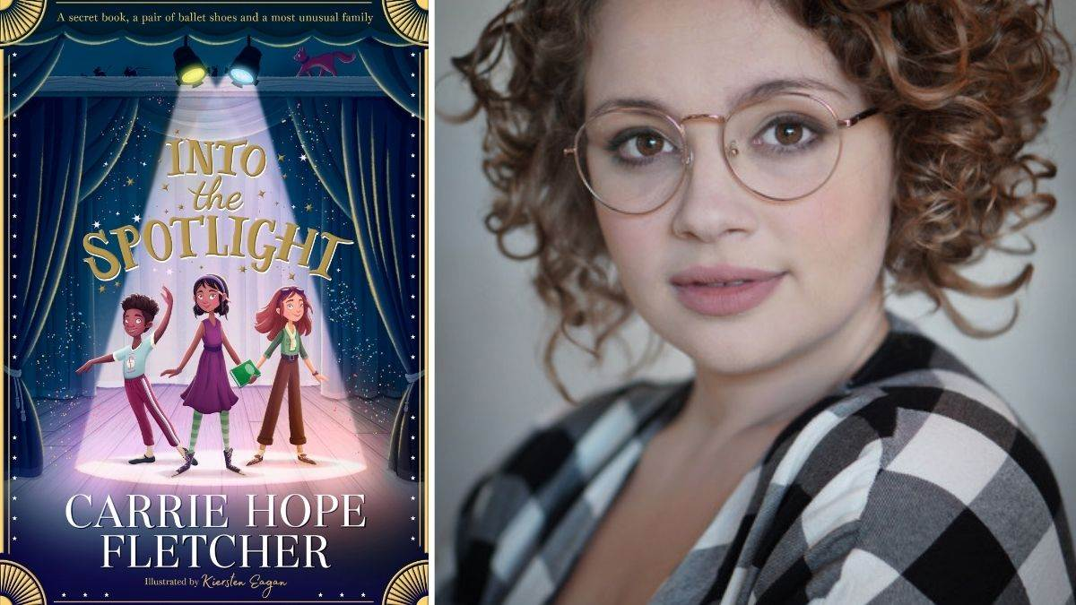 Carrie Hope Fletcher and the cover of Into the Spotlight