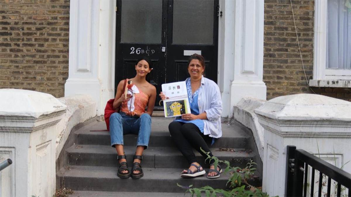 Farhanah Mamoojee and Sita Brahmachari on the steps of the first Ayah's Home