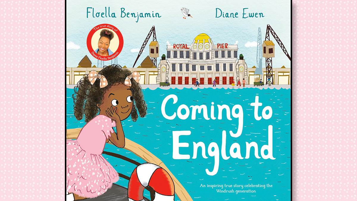 The front cover of Coming to England