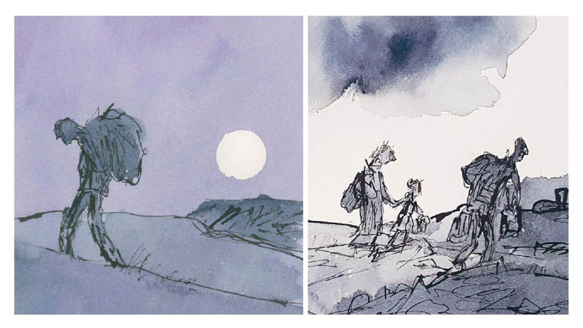 Illustrations from On the Move by Michael Rosen and Quentin Blake