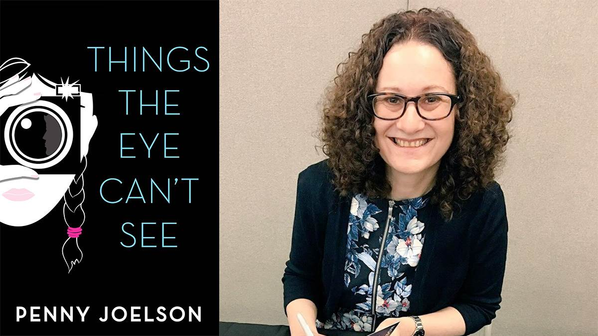 The front cover of Things The Eye Can't See and author Penny Joelson