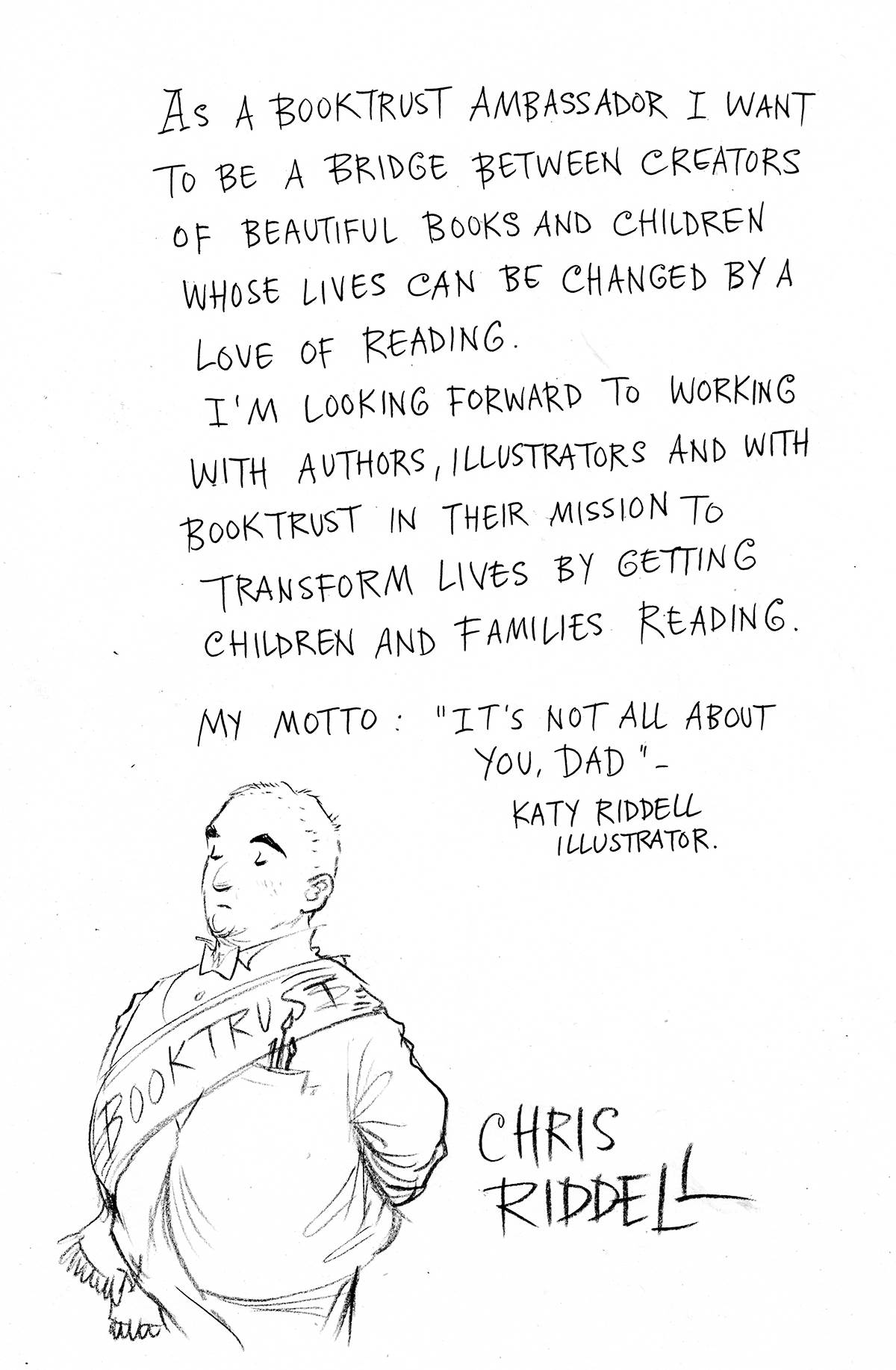 Chris Riddell's BookTrust manifesto