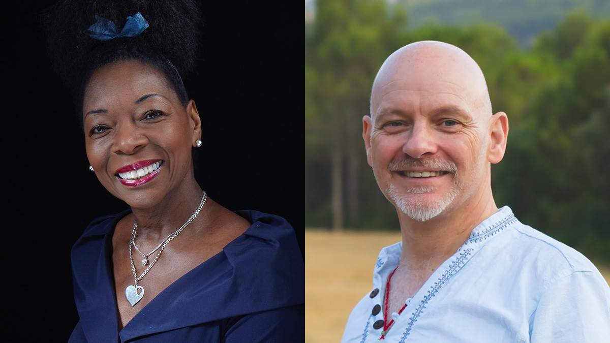 Floella Benjamin and James Mayhew