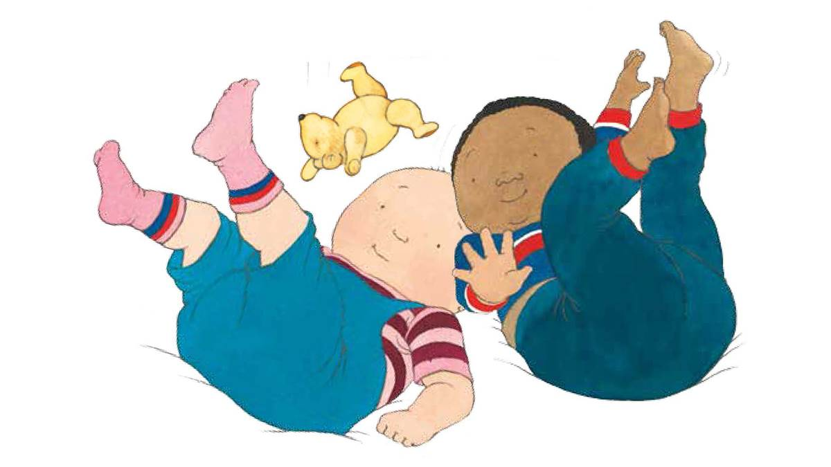 Illustration from Bouncing Babies by Helen Oxenbury