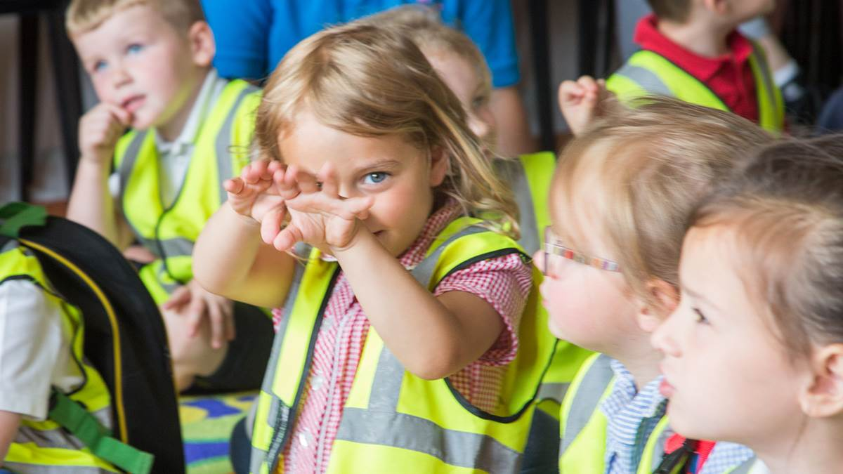 Children from Ravenscroft Nursery celebrate the launch of BookTrust's National Bookstart Week at Belfast's Window on Wildlife in Belfast Harbour on 4 June