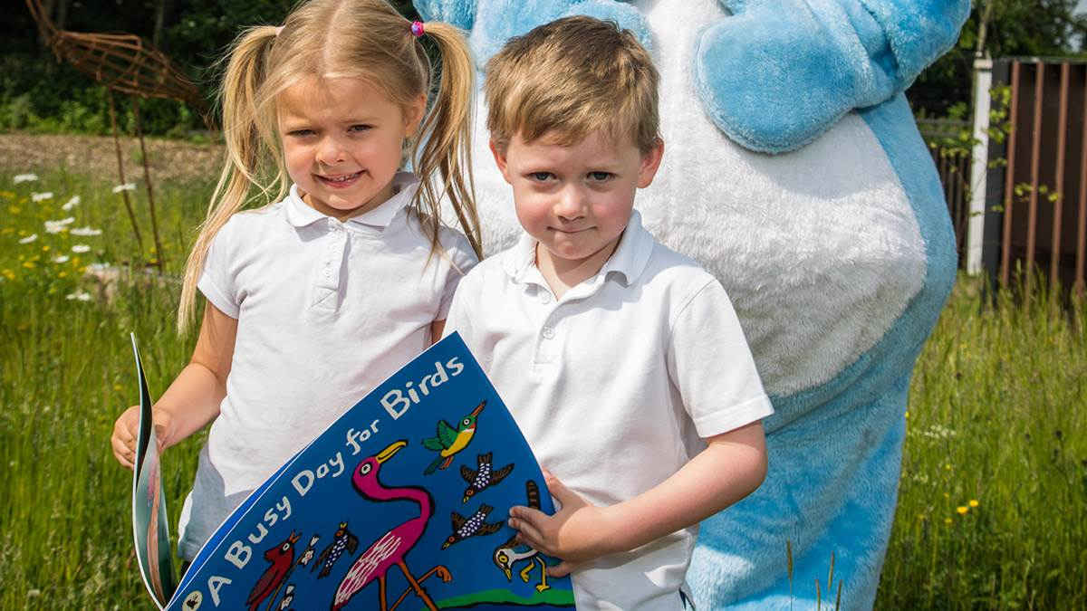 Kids at WOW in Belfast for national Bookstart Week