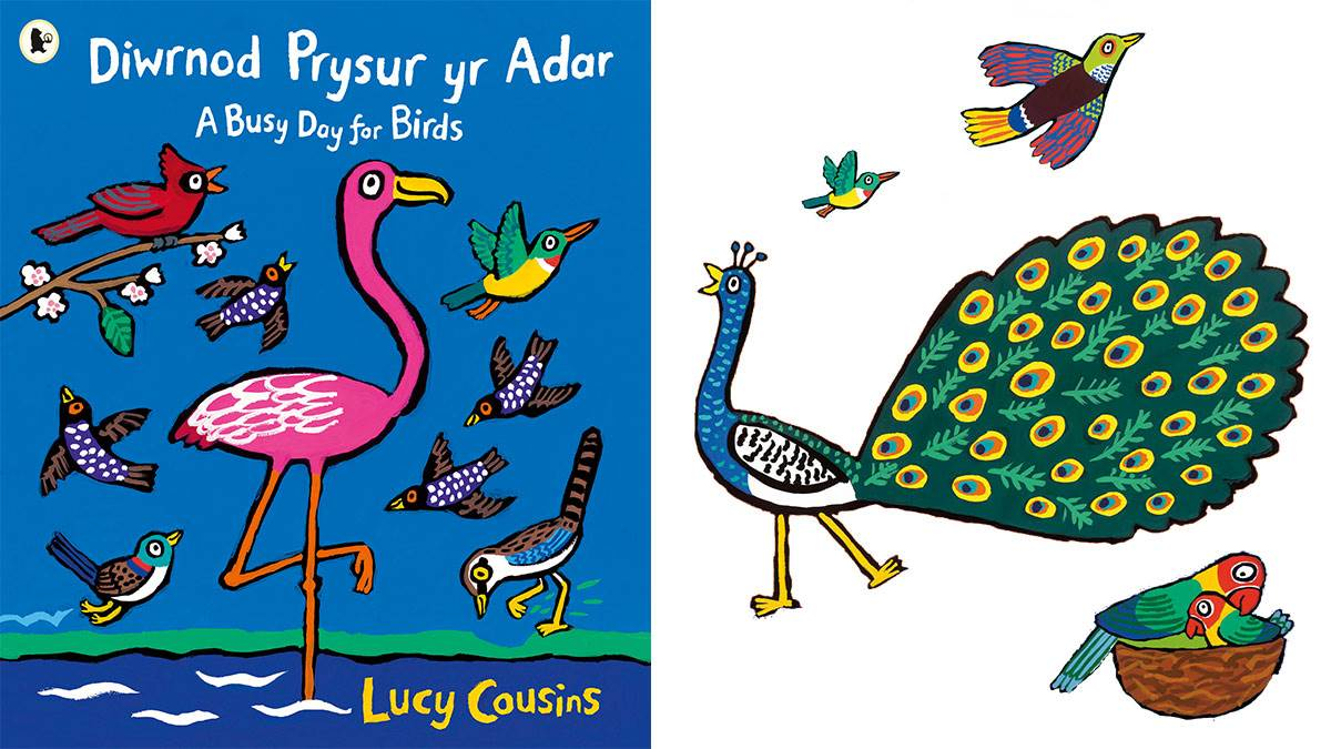 Welsh cover of Busy Day and peacock