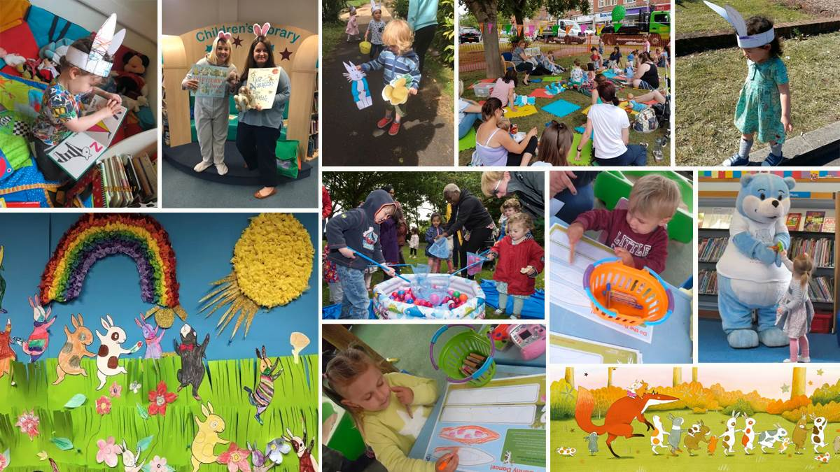 Montage of images from National Bookstart Week 2017