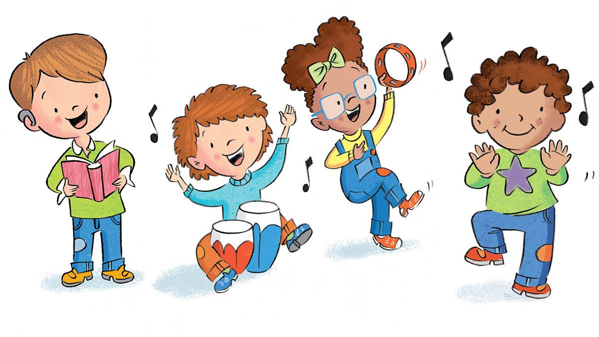 Rhyme Challenge illustration of kids singing