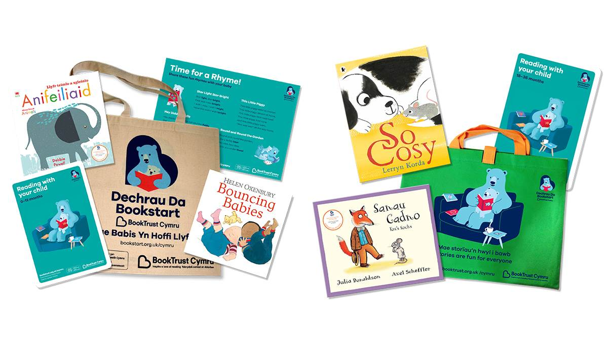 Bookstart in Wales baby and Early Years packs 2019